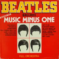 LP - Full Orchestra Beatles Ballads Music Minus One